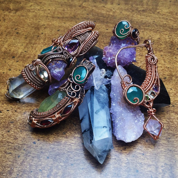 Heady wire wrap jewelry