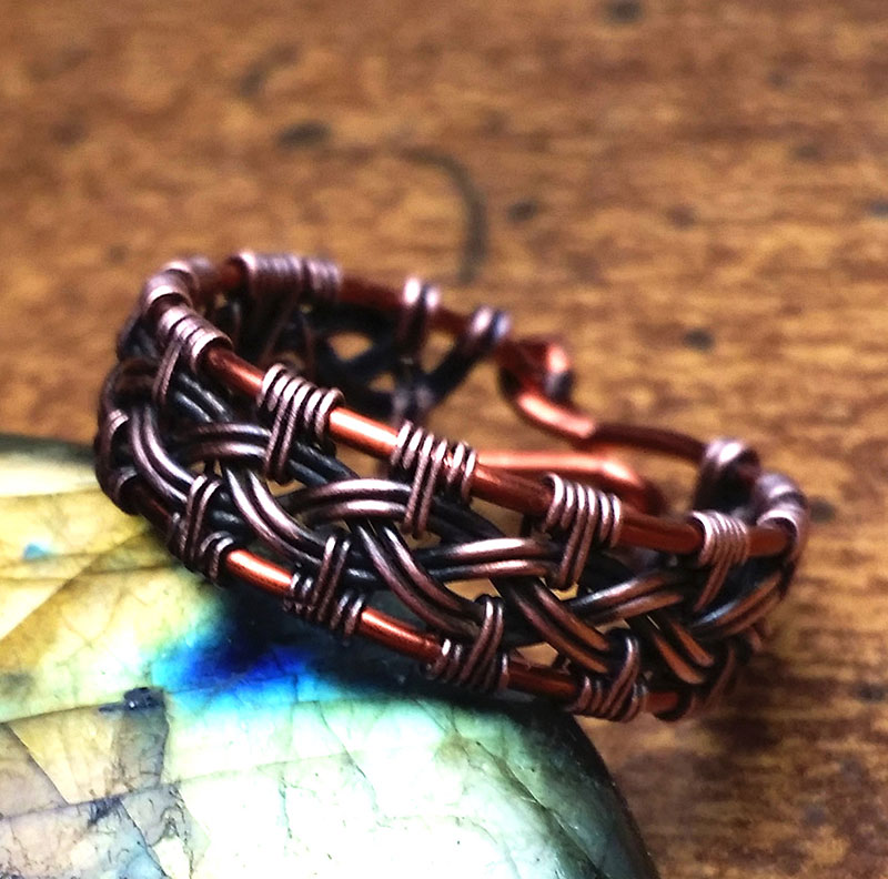 Celtic-Braided-Wire-Wrapped-Copper-Ring