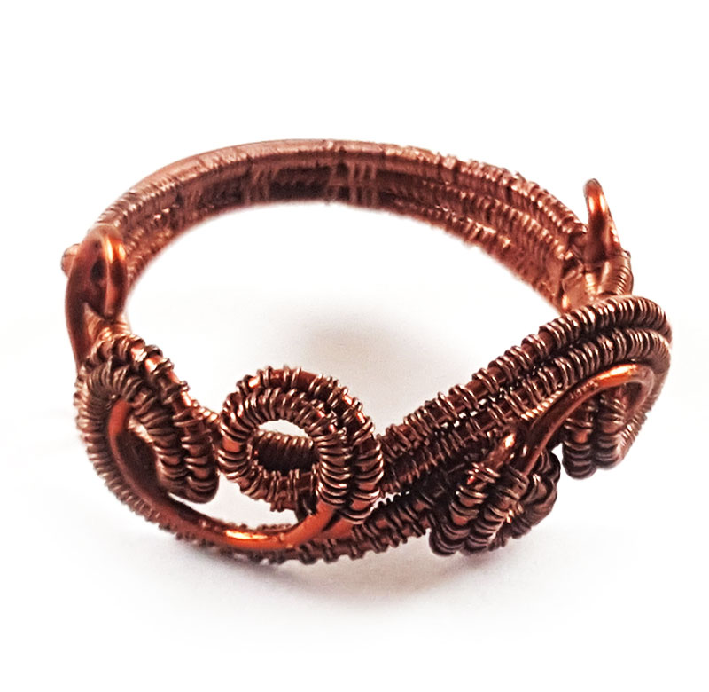 Copper-Wire-Weave-Ring