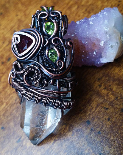 Wire Wrap Crystal Pendant