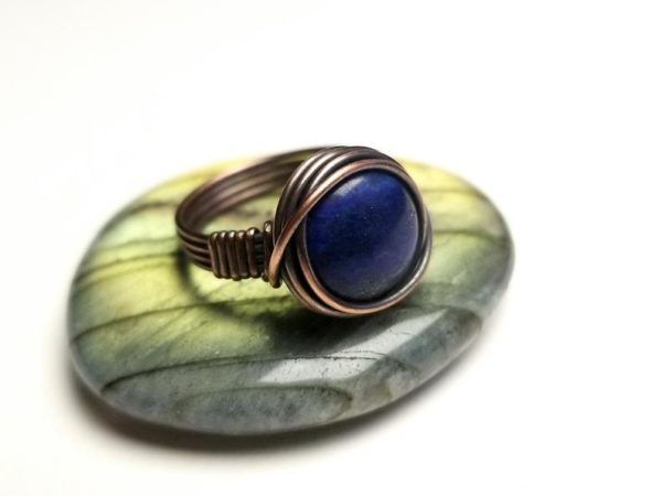 Simple Wire Wrap Ring Tutorial Easy Wire Wrap Cabochon Ring Tutorial By Bobi Jo Gilman 1
