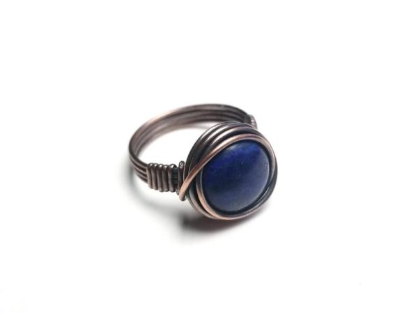 Simple Wire Wrap Ring Tutorial Easy Wire Wrap Cabochon Ring Tutorial By Bobi Jo Gilman 3
