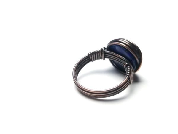 Simple Wire Wrap Ring Tutorial Easy Wire Wrap Cabochon Ring Tutorial By Bobi Jo Gilman 4