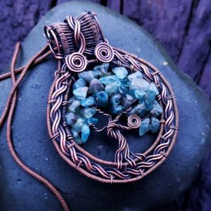 Tree of Life Wire Wrap Tutorial How To Make A Beaded Wire Tree of Life Pendant Necklace 1