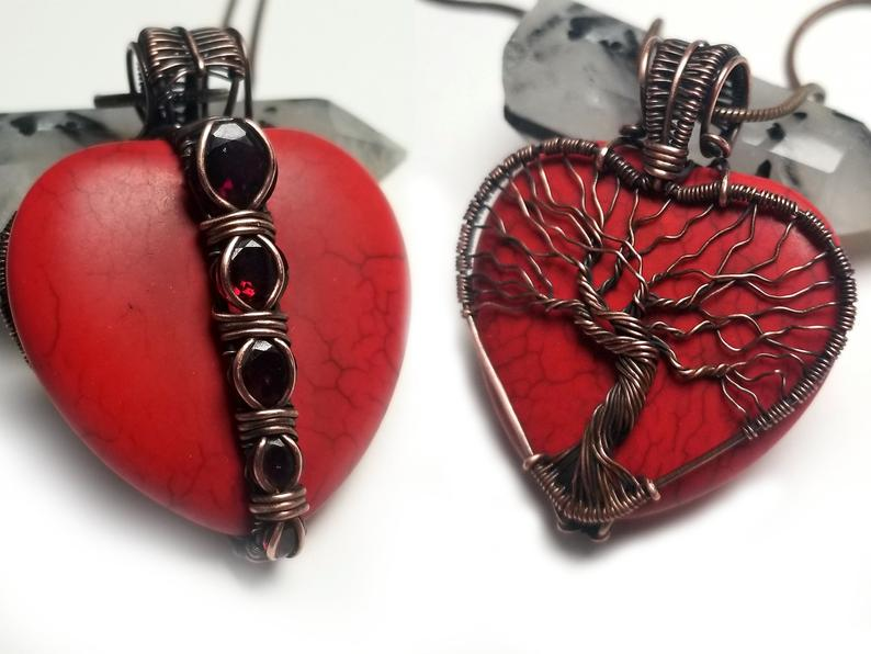 Wire Wrap Heart Pendant Tutorial 1