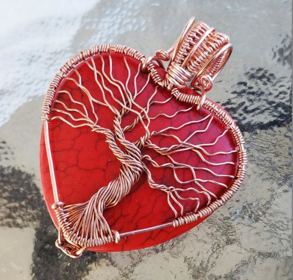 Wire Wrap Heart Pendant Tutorial 2