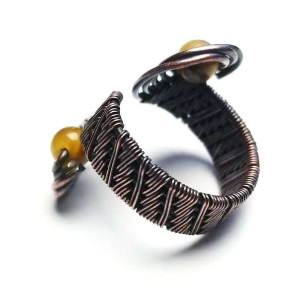 Wire wrap ring tutorial Spiral wire wrap ring tutorial bead ring tutorial Swirling Midi Ring3