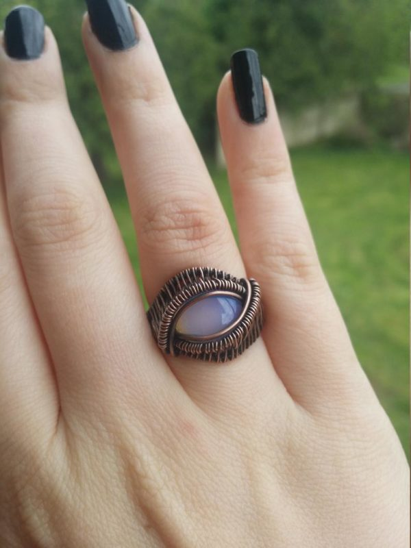 Wire wrap ring tutorial Wire wrap cabochon ring tutorial 2