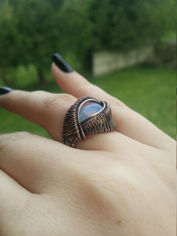 Wire wrap ring tutorial Wire wrap cabochon ring tutorial 3