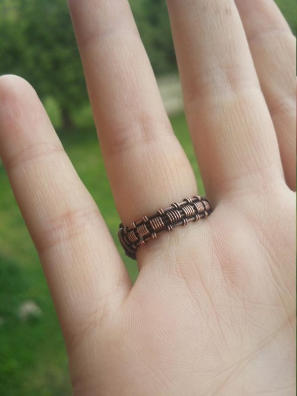 Wire wrap ring tutorial Wire wrap cabochon ring tutorial 4