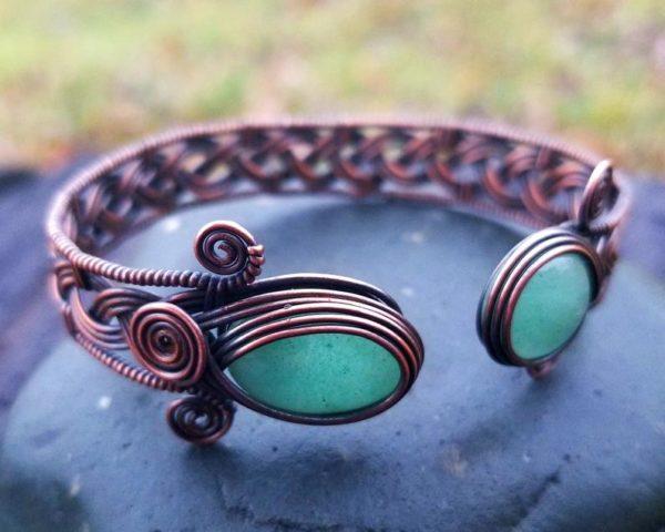Wire wrap tutorial Celtic knot viking braid bracelet cuff bangle 1