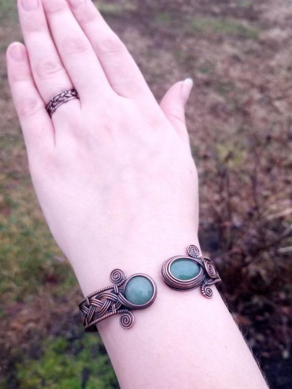 Wire wrap tutorial Celtic knot viking braid bracelet cuff bangle 2
