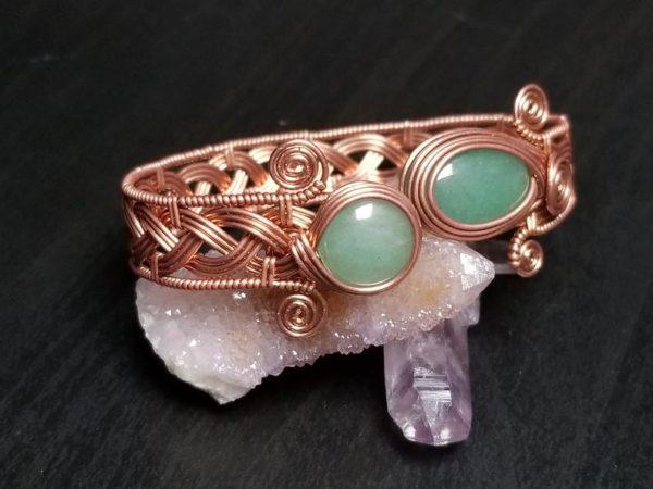 Wire wrap tutorial Celtic knot viking braid bracelet cuff bangle 3