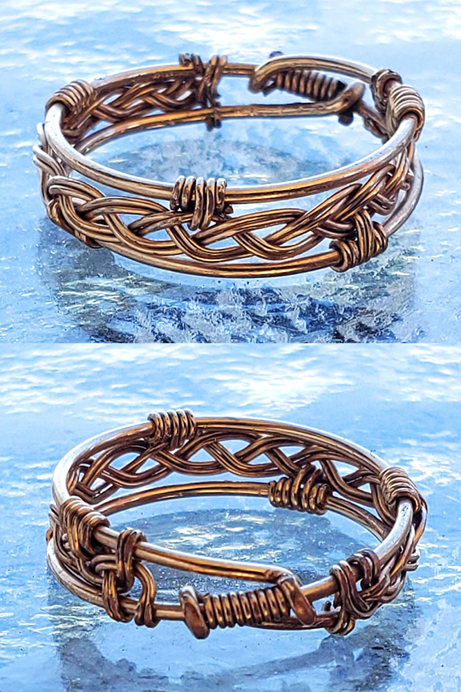 Celtic Wedding Band Wire Wrap Celtic Wedding Ring