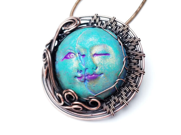 Wire Wrap Cabochon Tutorial | How to Make a Wire Wrap Sun and Moon Pendant 2